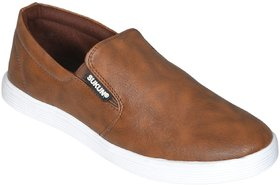 Sukun Mens Tan Slip on Smart Casuals Shoes