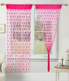 Geonature Rani Pink Heart Curtain Set Of 2 Size 4x7 (GHC2-46)