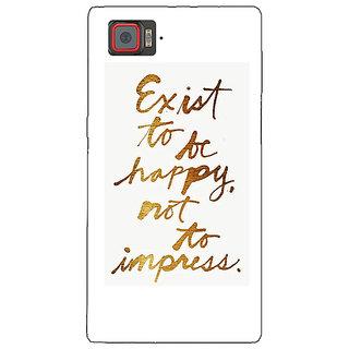 1 Crazy Designer Happy Quotes Back Cover Case For Lenovo K920 C721198