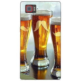 1 Crazy Designer Beer Glasses Back Cover Case For Lenovo K920 C721202