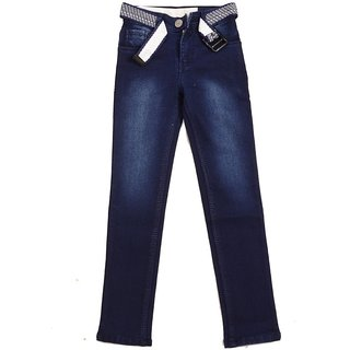 Ajanta Blue Slim Fit Jeans pattern solid material cotton