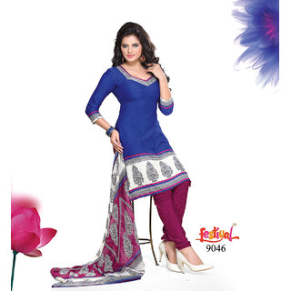Utsav Printed Dress Material 9046
