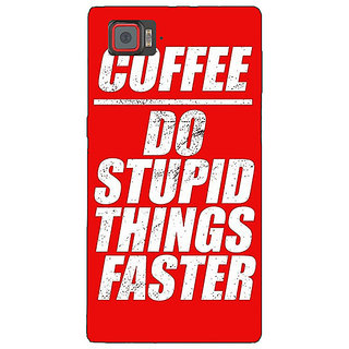 1 Crazy Designer Coffee Quote Back Cover Case For Lenovo K920 C721269