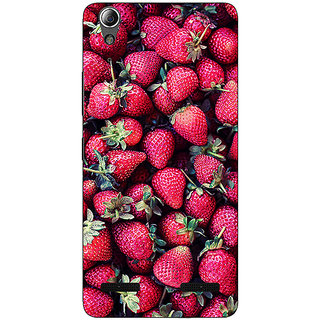 1 Crazy Designer Strawberry Pattern Back Cover Case For Lenovo A6000 C730201