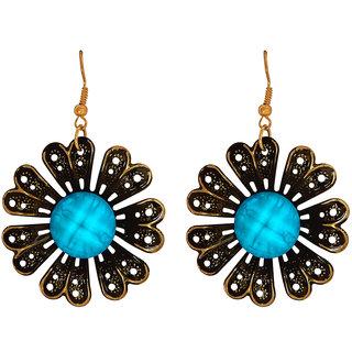 Camy Floral Beauty Alloy, Brass Dangle Earring