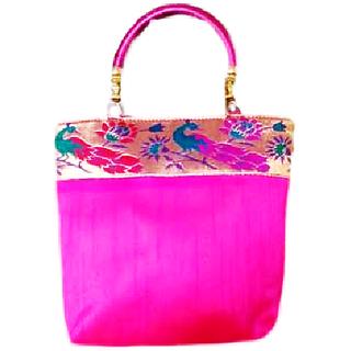 Beautiful Handmade Bag In Pink Colour
