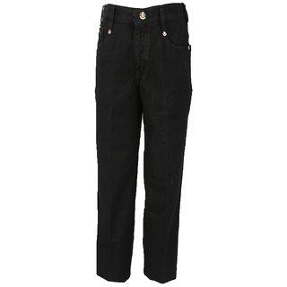 Trick Men's Slim Fit Black Jeans
