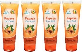 Pavo Papaya Face Wash (4 Pices)