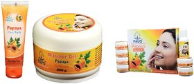 PAVO PAPAYA  FACILAL KIT  FACE WASH  MASSAGE GEL Combo