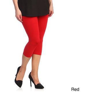 Raabta Red Cotton Lycra Capri