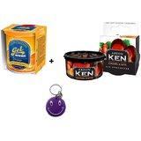 Combo Of Areon Gel Orange+Ken Caramel&Nuts Air Freshener Free Smiley Key Chain.