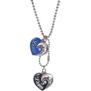 Men Style Blue,Black  Love Heart   Pendent