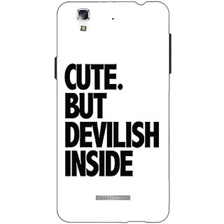 1 Crazy Designer Quote Back Cover Case For Micromax Yu Yureka C881445