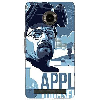 1 Crazy Designer Breaking Bad Heisenberg Back Cover Case For Micromax Yu Yuphoria C890424