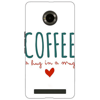 1 Crazy Designer Coffee Quote Back Cover Case For Micromax Yu Yuphoria C891299