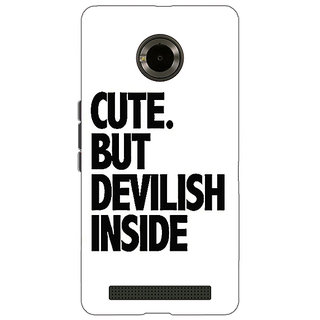 1 Crazy Designer Quote Back Cover Case For Micromax Yu Yuphoria C891445