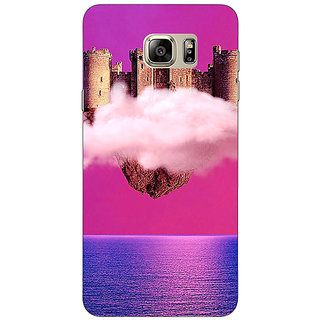 1 Crazy Designer Flying Castle Dream Back Cover Case For Samsung S6 Edge+ C900716