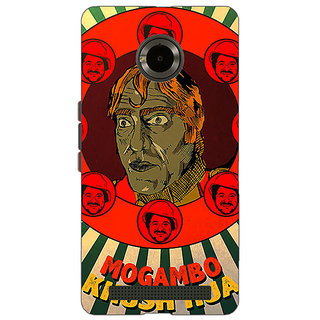 1 Crazy Designer Bollywood Superstar Mr. India Mogambo Back Cover Case For Micromax Yu Yuphoria C891108