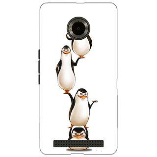 1 Crazy Designer Penguins Madagascar Back Cover Case For Micromax Yu Yuphoria C891385