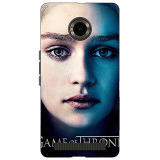 1 Crazy Designer Game Of Thrones GOT Khaleesi Daenerys Targaryen Back Cover Case For Micromax Yu Yuphoria C891544
