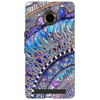 1 Crazy Designer Paisley Beautiful Peacock Back Cover Case For Micromax Yu Yuphoria C891587