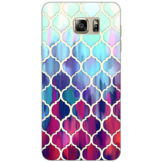 1 Crazy Designer White Red Blue Moroccan Tiles Pattern Back Cover Case For Samsung S6 Edge+ C900300