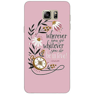 1 Crazy Designer Quotes Pink Back Cover Case For Samsung S6 Edge+ C901135