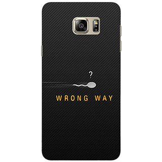 1 Crazy Designer Wrong Way Back Cover Case For Samsung Galaxy Note 5 C910809