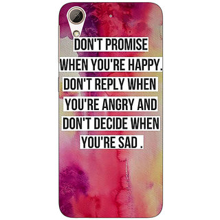 1 Crazy Designer Wise Quote Back Cover Case For HTC Desire 626 C921144