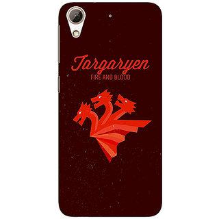 1 Crazy Designer Game Of Thrones GOT House Targaryen  Back Cover Case For HTC Desire 626G+ C940137