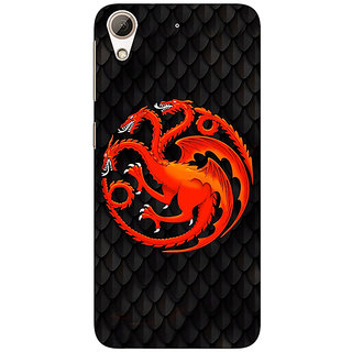 1 Crazy Designer Game Of Thrones GOT House Targaryen  Back Cover Case For HTC Desire 626G+ C940138