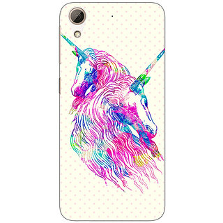 1 Crazy Designer Unicorn  Back Cover Case For HTC Desire 626G C930610