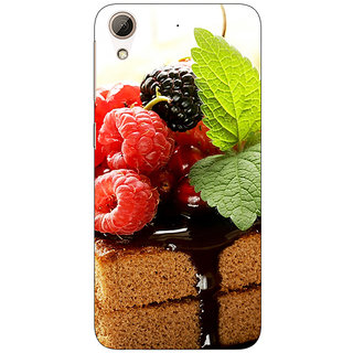 1 Crazy Designer Berry Cake Back Cover Case For HTC Desire 626G+ C940682