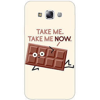 1 Crazy Designer Chocolate Quote Back Cover Case For Samsung Grand Max C801451