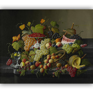 Vitalwalls Still Life Painting Canvas Art Print, Wooden Frame. Static-196-F-45 cm