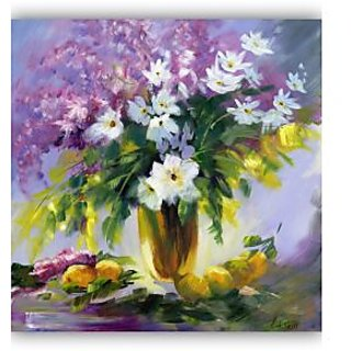 Vitalwalls Still Life Painting Canvas Art Print. Static-137-60cm