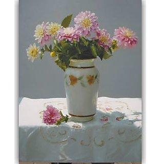 Vitalwalls Still Life Painting Canvas Art Print,  Wooden Frame. Static-138-F-60cm