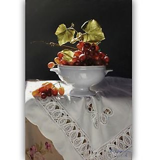Vitalwalls Still Life Painting Canvas Art Print,  Wooden Frame. Static-175-F-45cm