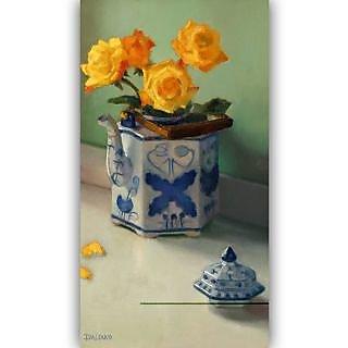 Vitalwalls Still Life Painting Canvas Art Print, Wooden Frame. Static-213-F-30 cm
