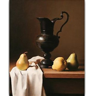 Vitalwalls Still Life Painting Canvas Art Print, Wooden Frame. Static-214-F-45 cm