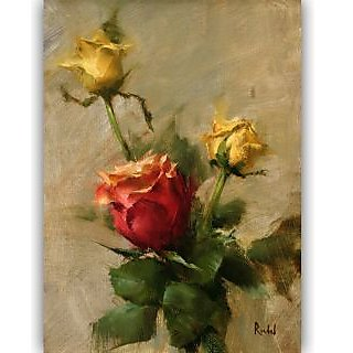 Vitalwalls Still Life Painting Canvas Art Print, Wooden Frame. Static-236-F-30cm