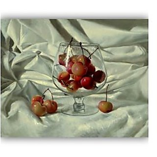 Vitalwalls Still Life Painting Canvas Art Print, Wooden Frame. Static-252-F-45cm