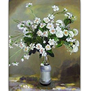 Vitalwalls Still Life Painting Canvas Art Print, Wooden Frame. Static-253-F-45cm