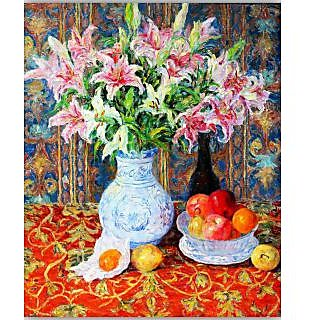 Vitalwalls Lily and fruit pictures Canvas Art Print. Static-254-45cm