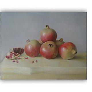 Vitalwalls Still Life Painting Canvas Art Print, Wooden Frame. Static-278-F-45cm