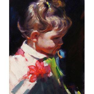 Vitalwalls Portrait Painting Canvas Art Print,  Wooden Frame. Western-139-F-30cm