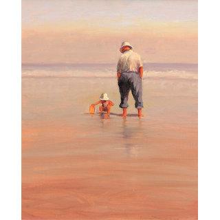 Vitalwalls Portrait Painting Canvas Art Print. Western-053-60cm