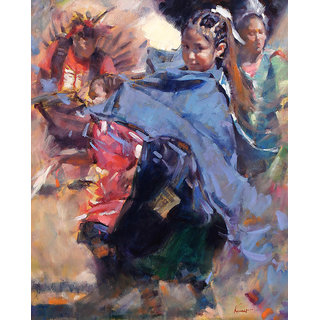 Vitalwalls Portrait Painting Canvas Art Print. Western-111-60cm