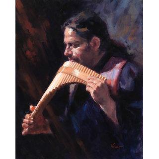 Vitalwalls Portrait Painting Canvas Art Print. Western-156-60cm