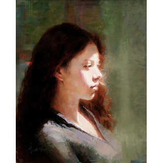 Vitalwalls Portrait Painting Canvas Art Print. Western-194-60cm